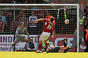Gary Roberts of Swindon scores their second goal. Swindon Town v Stevenage - npower League 1 -  County Ground, Swindon - 20th April, 2013. © Kevin Coleman 2013..