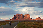Driving into Monument Valley, UTAH, USA