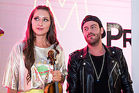 Violinist Elena Mikhailova and Dj Madison pose to the media at MBFWM16 in Madrid. September 16, Spain. 2016. (ALTERPHOTOS/BorjaB.Hojas) /NORTEPHOTO