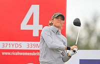 Jaye Marie Green (USA) on the 4th tee during Round 3 of the Ricoh Women's British Open at Royal Lytham &amp; St. Annes on Saturday 4th August 2018.<br /> Picture:  Thos Caffrey / Golffile<br /> <br /> All photo usage must carry mandatory copyright credit (&copy; Golffile | Thos Caffrey)