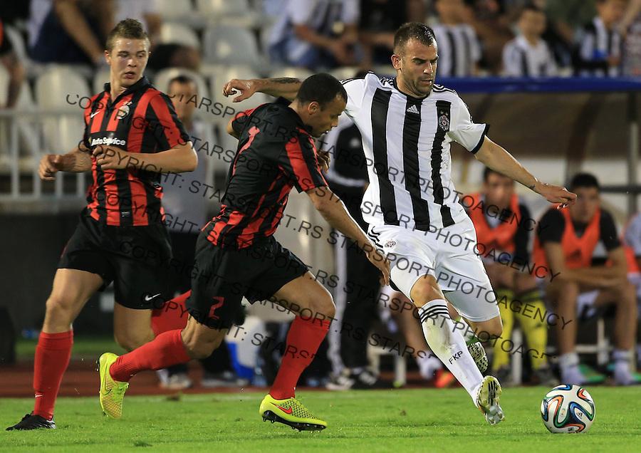 Fudbal Football Soccer<br /> UEFA Champions league-2nd qualifying round<br /> Partizan v HB Torshavn (Faroe Islands)<br /> Petar Skuletic (R)<br /> Beograd, 07.15.2014.<br /> foto: Srdjan Stevanovic/Starsportphoto &copy;