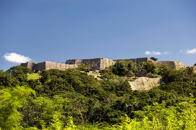 Photos shows the Nakagusuku Castle ruins in KITA-NAKAGUSUKU VILLAGE, Okinawa Prefecture, Japan, on May 20, 2012. Photographer: Robert Gilhooly