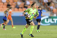 Houston, TX - Sunday August 13, 2017: Nicole Barnhart during a regular season National Women's Soccer League (NWSL) match between the Houston Dash and FC Kansas City at BBVA Compass Stadium.