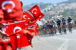 The peloton during Stage 1 of the 54th Presidential Tour of Turkey 2018, running 150km from Konya to Konya, Turkey. 9th October 2018.<br /> Picture: Brian Hodes/VeloImages | Cyclefile<br /> <br /> <br /> All photos usage must carry mandatory copyright credit (© Cyclefile | Brian Hodes/VeloImages)