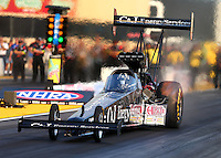 Jul 31, 2015; Sonoma, CA, USA; NHRA top fuel driver Dave Connolly during qualifying for the Sonoma Nationals at Sonoma Raceway. Mandatory Credit: Mark J. Rebilas-