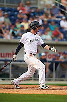 Pensacola Blue Wahoos outfielder Jesse Winker (23) at bat during the second game of a double header against the Biloxi Shuckers on April 26, 2015 at Pensacola Bayfront Stadium in Pensacola, Florida.  Pensacola defeated Biloxi 2-1.  (Mike Janes/Four Seam Images)