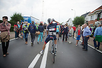 Aleksejs Saramotins (LAT/IAM) rehydrating after finishing<br /> <br /> stage 3<br /> Euro Metropole Tour 2014 (former Franco-Belge)