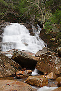 Ellen's Falls which are located along Hobbs Brook in Albany, New Hampshire USA