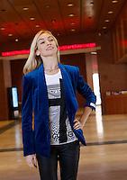 La ballerina, attrice e modella Eleonora Abbagnato, Etoile dell'Opera di Parigi posa al termine di una conferenza stampa all'Auditorium Parco della Musica, a Roma, 9 gennaio 2014. La Abbagnato si esibira' all'Auditorium il prossimo 26 gennaio.<br /> Italian dancer, actress and model Eleonora Abbagnato, Etoile of the Paris Opera Balle, poses at the end of a press conference ahead of her show scheduled on 26 January, at Rome's Auditorium, 9 January 2014.<br /> UPDATE IMAGES PRESS/Riccardo De Luca