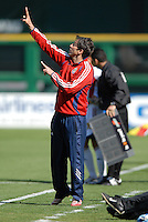 Chivas USA Head Coach Preki gives instructions to his players. DC United defeated Chivas USA 2-1, at RFK Stadium in Washington DC, Sunday May 6, 2007.
