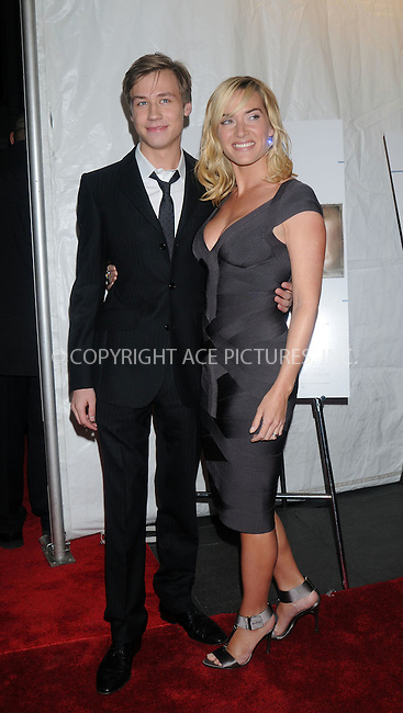 WWW.ACEPIXS.COM . . . . . ....December 3 2008, New York City....Actors David Kross (L) and Kate Winslet at the New York premiere of 'The Reader' on December 3, 2008 in New York City. ....Please byline: KRISTIN CALLAHAN - ACEPIXS.COM.. . . . . . ..Ace Pictures, Inc:  ..(646) 769 0430..e-mail: info@acepixs.com..web: http://www.acepixs.com