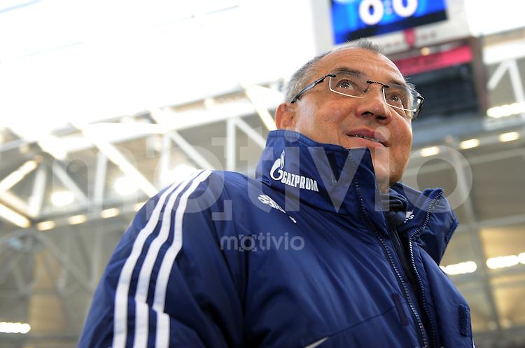 FUSSBALL   1. BUNDESLIGA   SAISON 2010/2010   22. Spieltag FC Schalke 04 - SC Freiburg                                    12.01.2011 Trainer Felix MAGATH (FC Schalke 04)