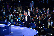 Washington, DC - March 21, 2016: Businessman and republican presidential candidate Donald Trump walks on stage to address attendees of the AIPAC Policy Conference at the Verizon Center in the District of Columbia, March 21, 2016.  (Photo by Don Baxter/Media Images International)