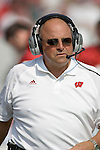 MADISON, WI - SEPTEMBER 10: Head coach Barry Alvarez of the Wisconsin Badgers paces the sideline against the Temple Owls at Camp Randall Stadium on September 10, 2005 in Madison, Wisconsin. The Badgers beat the Owls 65-0. Photo by David Stluka.