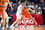 Real Madrid's player Rudy Fernandez and Valencia Basket's Fernando San Emeterio during the first match of the Semi Finals of Liga Endesa Playoff at Barclaycard Center in Madrid. June 02. 2016. (ALTERPHOTOS/Borja B.Hojas)