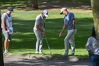 Sergio Garcia (ESP) discusses a drop with Alex Noren (SWE) on 2 during round 1 of the World Golf Championships, Mexico, Club De Golf Chapultepec, Mexico City, Mexico. 2/21/2019.<br /> Picture: Golffile | Ken Murray<br /> <br /> <br /> All photo usage must carry mandatory copyright credit (© Golffile | Ken Murray)
