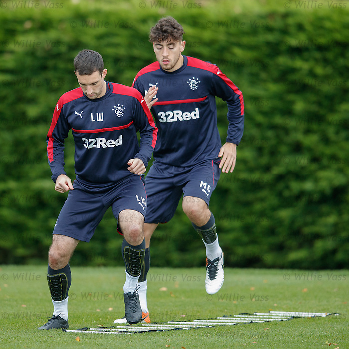 Lee Wallace back at Rangers after getting the overnight team flight home from Slovakia