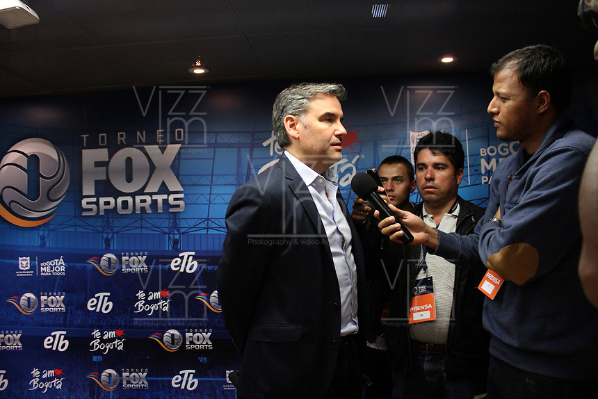 BOGOTÁ - COLOMBIA, 28-01-2018: Hernán Donnari, VP Fox Sports Latin America at Fox Network Group durante encuentro de prensa antes del partido entre Independiente Santa Fe y el América de Cali  por la final del torneo Fox Sports 2018 jugado en el estadio Nemesio Camacho El Campin de la ciudad de Bogota. /  Hernán Donnari, VP Fox Sports Latin America at Fox Network Group during a press conference before the meeting between Independiente Santa Fe and América de Cali for the final of the Fox Sports 2018 tournament played at the Nemesio Camacho Stadium The Campin of the city of Bogota. Photo: VizzorImage/ Felipe Caicedo / Staff
