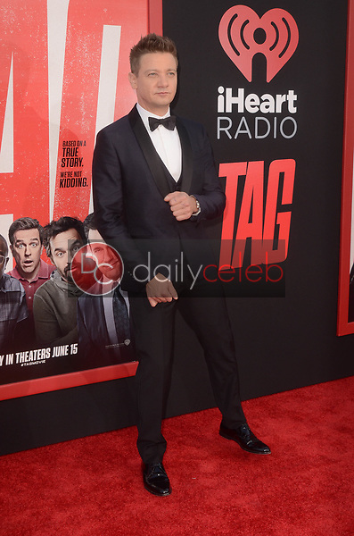 "Jeremy Renner<br /> at the ""Tag"" World Premiere, Village Theater, Westwood, CA 06-07-17<br /> David Edwards/DailyCeleb.com 818-249-4998"