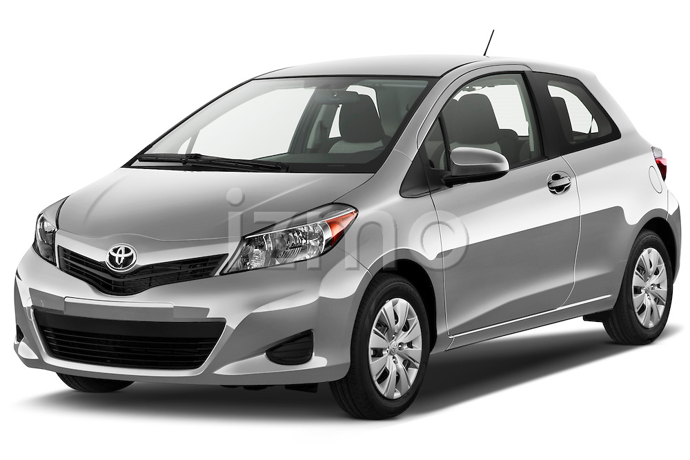Front three quarter view of a 2012 Toyota Yaris LE 3 Door.