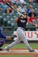 Sacramento River Cats outfielder Josh Reddick (26) swings the bat during the Pacific Coast League baseball game against the Round Rock Express on June 19, 2014 at the Dell Diamond in Round Rock, Texas. The Express defeated the River Cats 7-1. (Andrew Woolley/Four Seam Images)
