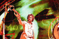 Lead Wayne Coyne trumpets at the Flaming Lips concert at the Alliant Energy Center's Willow Island Saturday night, 9/8/07, in Madison, Wisconsin