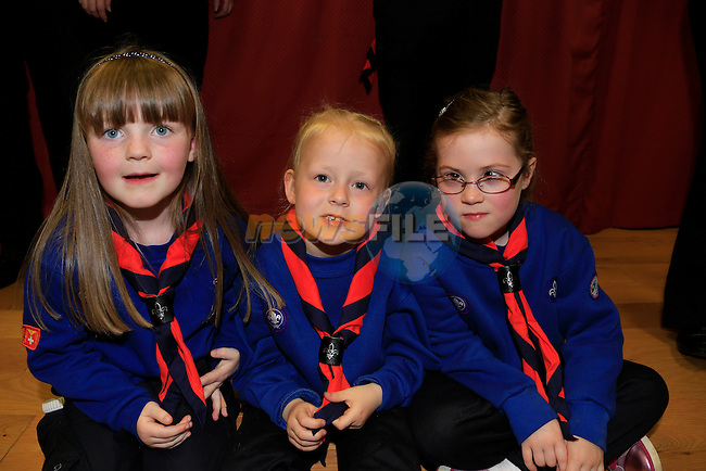 Abbie Murray, Emma Kelly, Emma Jones Smith Drogheda new Scout Group 14th Louth St.Martins.<br /> Picture: www.newsfile.ie