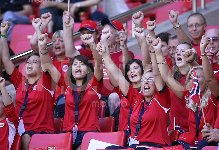 Fussball International Frauen WM China 2007  Norwegen - Ghana Norway - Ghana JUBEL NOR Fans