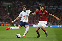 England's Kyle Walker and Czech Republic's Filip Novak<br /> <br /> Photographer Rob Newell/CameraSport<br /> <br /> UEFA Euro 2020 Qualifying round - Group A - England v Czech Republic - Friday 22nd March 2019 - Wembley Stadium - London<br /> <br /> World Copyright © 2019 CameraSport. All rights reserved. 43 Linden Ave. Countesthorpe. Leicester. England. LE8 5PG - Tel: +44 (0) 116 277 4147 - admin@camerasport.com - www.camerasport.com