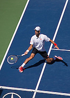Djokovic To The Net Forehand Slice US Open 2013