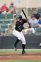 Jameson Fisher (11) of the Kannapolis Intimidators at bat against the Augusta GreenJackets at Kannapolis Intimidators Stadium on May 3, 2017 in Kannapolis, North Carolina.  The Intimidators defeated the GreenJackets 7-4.  (Brian Westerholt/Four Seam Images)