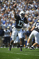 05 September 2009: Penn State QB Daryll Clark (17) threw for 353 yards and 3 TDs.   The Penn State Nittany Lions defeated the Akron Zips 31-7 at Beaver Stadium in State College, PA..