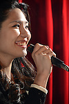 Boplicity, Tainan -- Vocalist Lien Hsiao-yun during a performance with Smalls Jazz Combo.