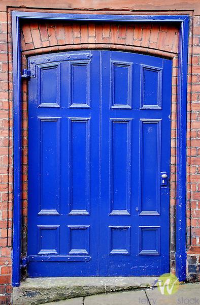 Blue door.
