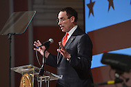 February 5, 2013  (Washington, DC)  D.C. Mayor Vincent Gray delivers his State of the District address at the historic Sixth and I Synagogue.  (Photo by Don Baxter/Media Images International)