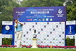 Chuanlin Jian of China tees off on the 1st hole during the Round 1 of the Faldo Series Asia Grand Final at Mission Hills on March 2, 2011 in Shenzhen, China. Photo by Raf Sanchez / Faldo Series
