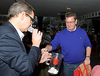 Winner of the goody bag in the raffle during the Pre-match hospitality ahead of the Greene King IPA Championship match between London Scottish Football Club and Ealing Trailfinders at Richmond Athletic Ground, Richmond, United Kingdom on 26 December 2015. Photo by Alan  Stanford / PRiME Media Images