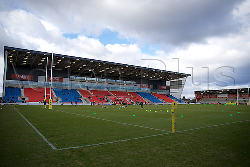 05.03.2016. AJ Bell Stadium, Salford, England. Aviva Premiership. Sale versus Harlequins. The stadium starts to fill up.