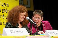 16. Rosa Luxemburg-Konferenz der linken Tageszeitung &quot;junge Welt&quot;.<br /> Am Samstag den 7. Januar 2011 veranstaltete die linke Tageszeitung &quot;junge Welt&quot; ihre traditionelle Rosa Luxemburg-Konferenz. Teilnehmerinnen bei der Abschlussdiskussion waren u.a die Parteivorsitzender der Linkspartei Die LINKE. Gesine Loetzsch; die Linkspartei-MdB Ulla Jelpke, die Vorsitzende der Deutschen Kommunistishen Partei DKP, Bettina Juergensen (links im Bild); das ehemalige RAF-Mitglied Inge Viet (rechts im Bild) und Katrin Dornheim, Betriebsratsvorsitzende bei der Deutschen Bahn AG in Berlin.<br /> 8.1.2011, Berlin<br /> Copyright: Christian-Ditsch.de<br /> [Inhaltsveraendernde Manipulation des Fotos nur nach ausdruecklicher Genehmigung des Fotografen. Vereinbarungen ueber Abtretung von Persoenlichkeitsrechten/Model Release der abgebildeten Person/Personen liegen nicht vor. NO MODEL RELEASE! Nur fuer Redaktionelle Zwecke. Don't publish without copyright Christian-Ditsch.de, Veroeffentlichung nur mit Fotografennennung, sowie gegen Honorar, MwSt. und Beleg. Konto: I N G - D i B a, IBAN DE58500105175400192269, BIC INGDDEFFXXX, Kontakt: post@christian-ditsch.de<br /> Bei der Bearbeitung der Dateiinformationen darf die Urheberkennzeichnung in den EXIF- und  IPTC-Daten nicht entfernt werden, diese sind in digitalen Medien nach &sect;95c UrhG rechtlich geschuetzt. Der Urhebervermerk wird gemaess &sect;13 UrhG verlangt.]