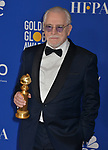 Brian Cox 159 poses in the press room with awards at the 77th Annual Golden Globe Awards at The Beverly Hilton Hotel on January 05, 2020 in Beverly Hills, California.