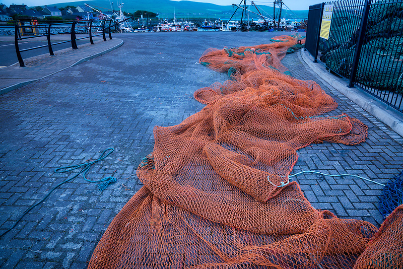 Fishing net. Dingle Harbor, Dingle, Ireland. County Kerry