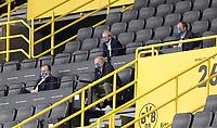 16th May 2020, Signal Iduna Park, Dortmund, Germany; Bundesliga football, Borussia Dortmund versus FC Schalke;  FC Schalke 04  Manager Jochen Schneider  with Clemens Tönnies, Alexander Jobst and Peter Peters spaced apart in the stands