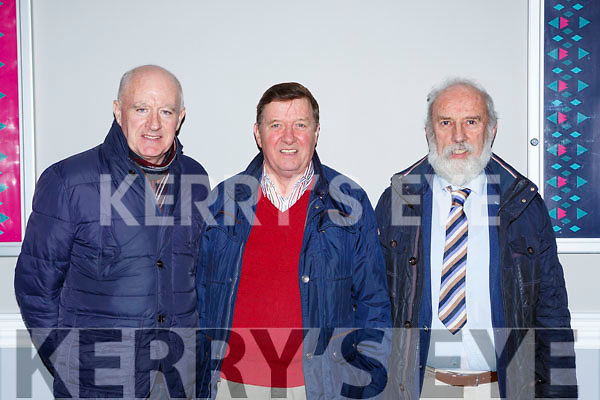 Dan Reidy, James O'Donoghue both Scartaglen and Tadgh O'Donoghue Kilgarvan at the Kerry GAA County Board Convention in the INEC on Monday night