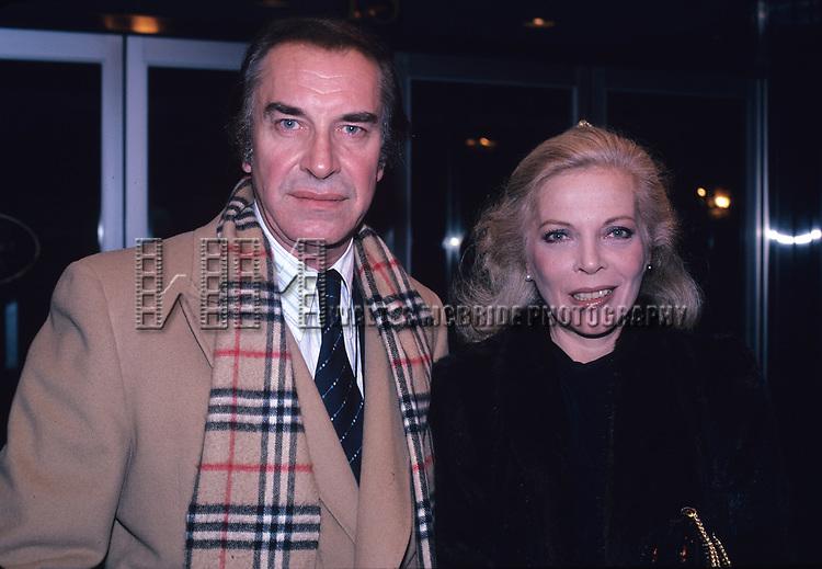 Martin Landau and Barbara Bain photographed in New York City in 1981.