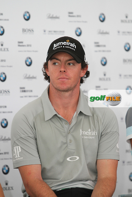 Rory McIlroy (NIR) at the Press Conference ahead of the BMW Masters 2012 at Lake Malaren Golf Club, Shanghai, China, Tuesday 23/10/12...(Photo Jenny Matthews/www.golffile.ie)