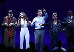 Eric Anderson, Samantah Barks, Andy Karl, Orfeh, Ezra Knight and cast during the Curtain Call for the Garry Marshall Tribute Performance of 'Pretty Woman:The Musical' at the Nederlander Theatre on August 2, 2018 in New York City.