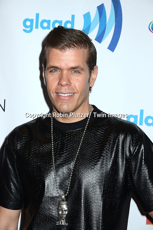 Perez Hilton attends the 25th Annual GLAAD Media Awards at the Waldorf Astoria Hotel in New York City, NY on May 3, 2014.