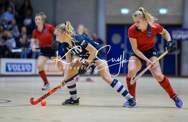 ROTTERDAM  - NK Zaalhockey . finale dames hoofdklasse: hdm-Laren 2-1. hdm landskampioen. Mascha Sterk (HDM).  COPYRIGHT KOEN SUYK