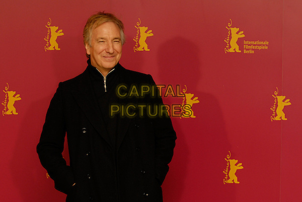 "ALAN RICKMAN.Photocall for ""Snow Cake"" at the 56th Berlin (Berlinale) Film Festival, Berlin, Germany..February 9th, 2006.Ref: KRA.half length black coat.www.capitalpictures.com.sales@capitalpictures.com.©Capital Pictures"