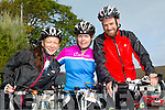 Marie McKenna, Jean Foley and Philip Dooey. at the Ardfert Harvest Cycle on Saturday
